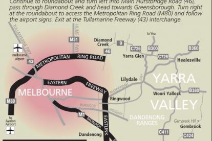 Yarra Valley Access Map
