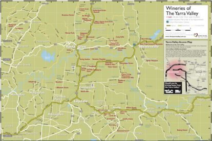 Yarra Valley Winery Map