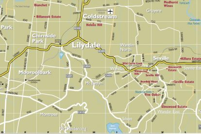 Yarra Valley Winery Map Zoom