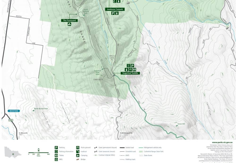 Cathederal Ranges State Park - South