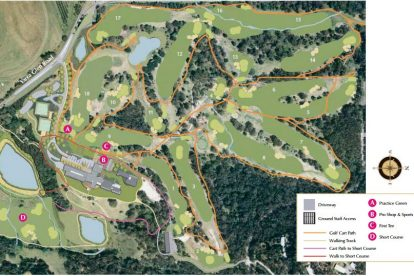 Healesville Country Club Golf Course Map