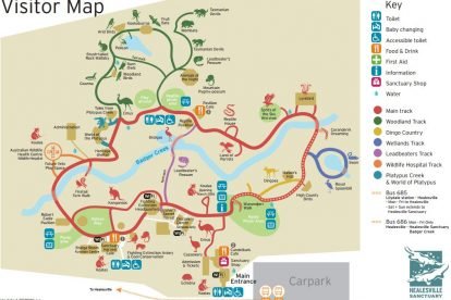 Healesville Sanctuary Map