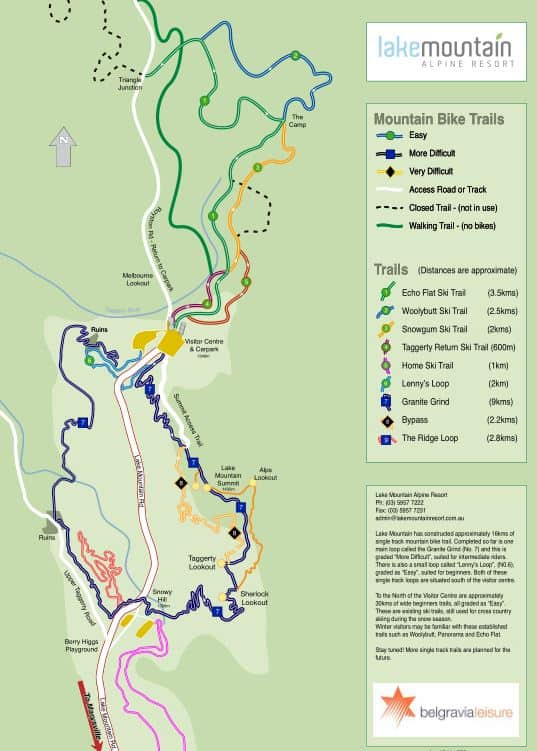 Lake Mountain Bike Trails