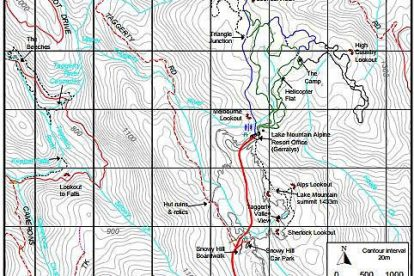 Lake Mountain Trails Map